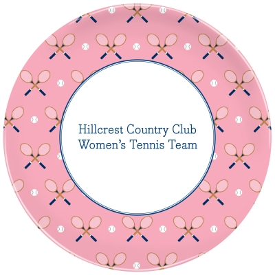 Tennis Repeat Personalized Plate Personalized by Boatman Geller