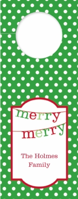 Banner Merry Merry Wine Tag Personalized by Boatman Geller