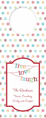 Banner Live Love Laugh Wine Tag Personalized by Boatman Geller