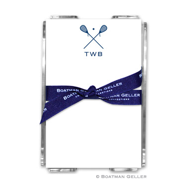 Lacrosse Note Sheets in Acrylic Holder