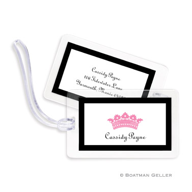 Princess Crown Bag Tag