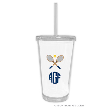 Crossed Racquets Beverage Tumbler