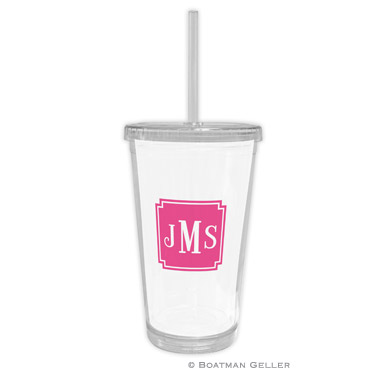 Solid Inset Square Corners Beverage Tumbler