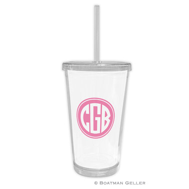 Solid Inset Circle Beverage Tumbler