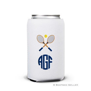 Crossed Racquets Can Koozie
