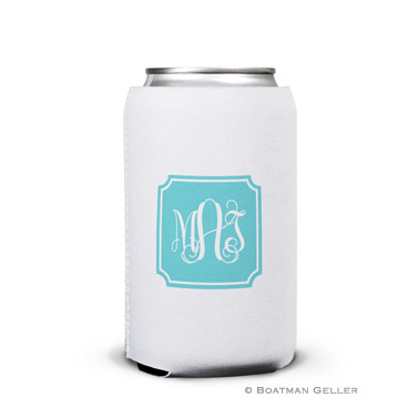 Solid Inset Round Corners Can Koozie