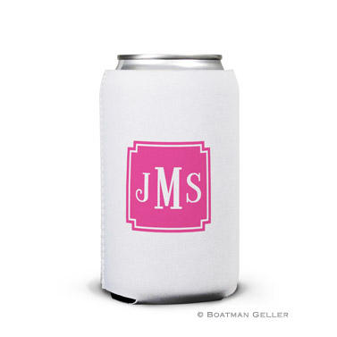Solid Inset Square Corners Can Koozie
