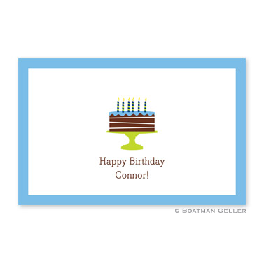 Birthday Cake Blue Disposable Placemats