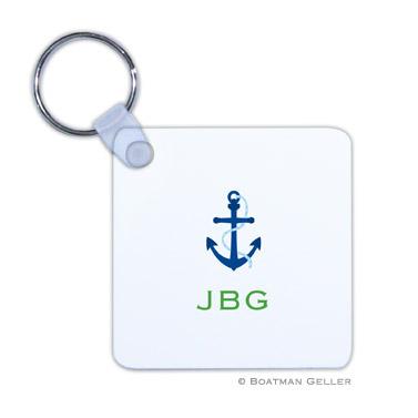 Anchor Key Chain by Boatman Geller