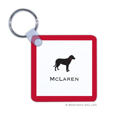 Lab Black Key Chain