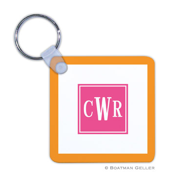 Solid Inset Square Key Chain