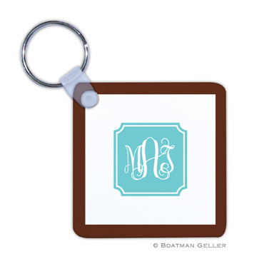 Solid Inset Round Corners Key Chain