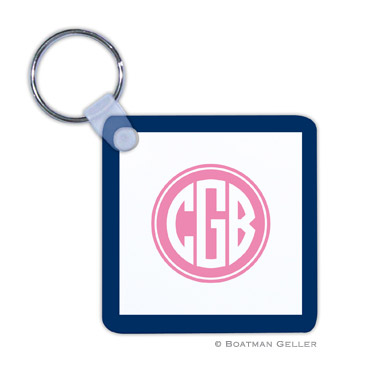 Solid Inset Circle Key Chain
