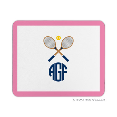 Crossed Racquets Mouse Pad