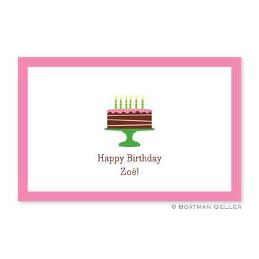 Birthday Cake Pink Personalized Placemat