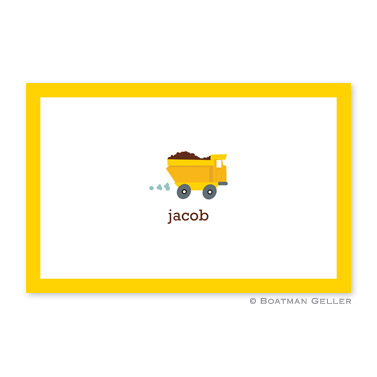 Truck Laminated Placemat Personalized Placemat