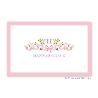 Ribbon Pink Personalized Placemat