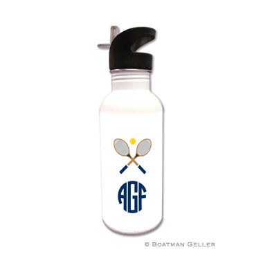 Crossed Racquets Water Bottle