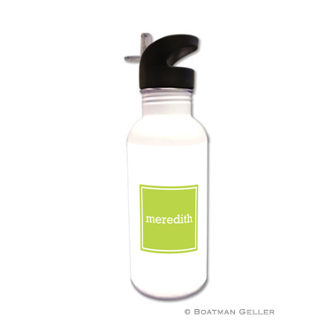 Solid Inset Square Water Bottle