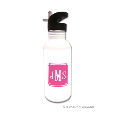 Solid Inset Square Corners Water Bottle