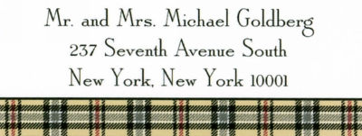 Town Plaid Address Labels