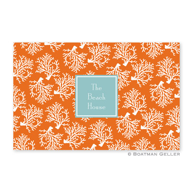 Coral Repeat Disposable Placemats