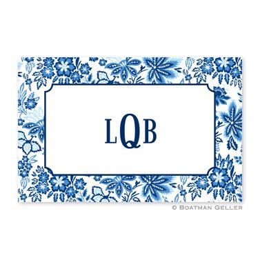 Classic Floral Blue Disposable Placemats