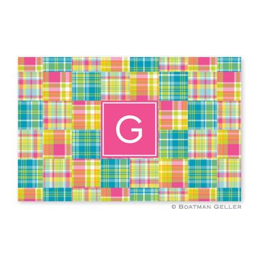 Madras Patch Bright Personalized Placemat