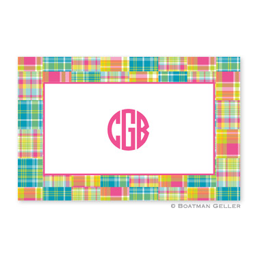 Madras Patch Bright Disposable Placemats