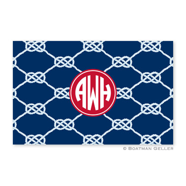 Nautical Knot Navy Personalized Placemat