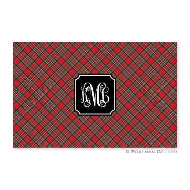 Plaid Red Holiday Placemat