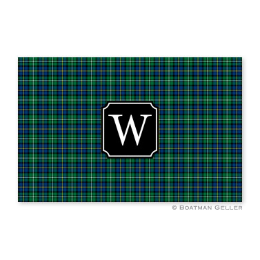 Black Watch Plaid Disposable Holiday Placemat
