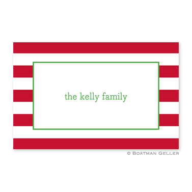 Awning Stripe Red Disposable Holiday Placemat