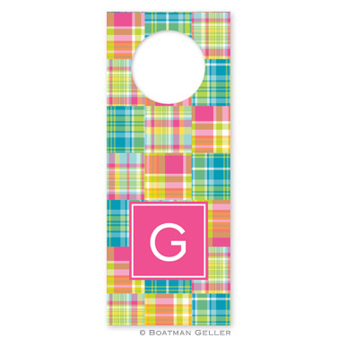 Madras Patch Bright Wine Tags - qty 8