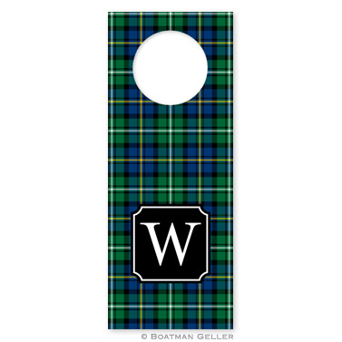 Black Watch Plaid Holiday Wine Tag