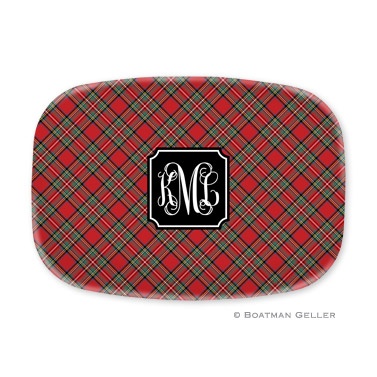 Plaid Red Platter