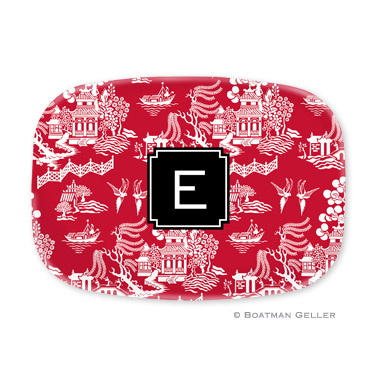 Chinoiserie Red Platter