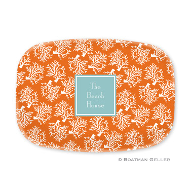 Coral Repeat Personalized Platter