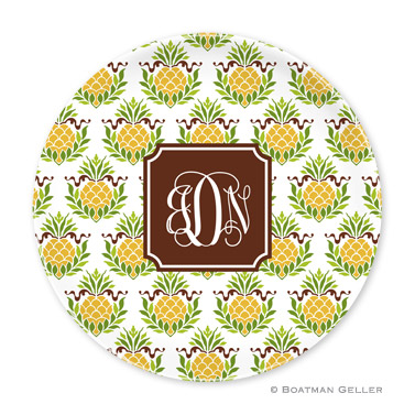 Pineapple Repeat Personalized Plate