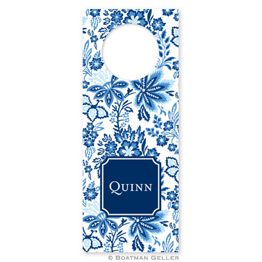 Classic Floral Blue Wine Tags - qty 8 by Boatman Geller