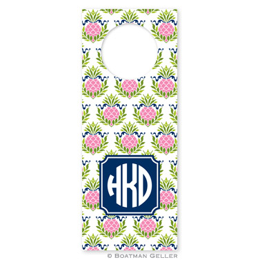 Pineapple Repeat Pink Wine Tags - qty 8 by Boatman Geller