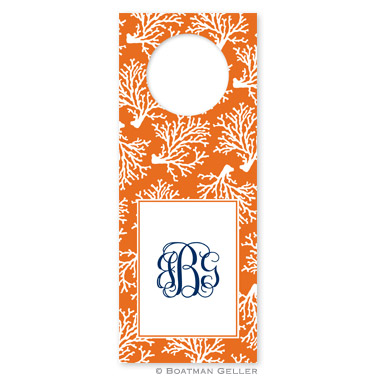 Coral Repeat Wine Tags - qty 8
