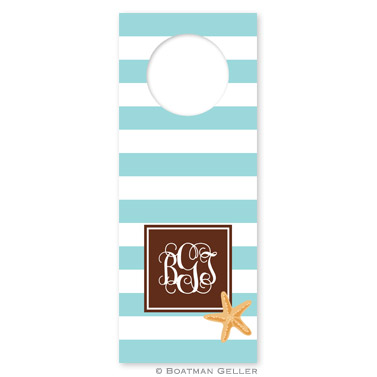 Stripe Starfish Wine Tags - qty 8