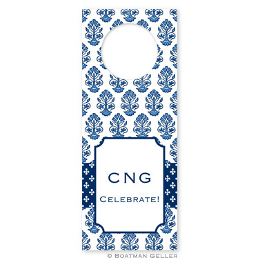 Beti Navy Wine Tags - qty 8