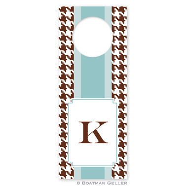 Alex Houndstooth Chocolate Wine Tags - qty 8