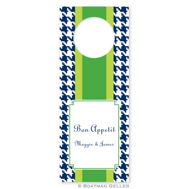 Alex Houndstooth Navy Wine Tags - qty 8