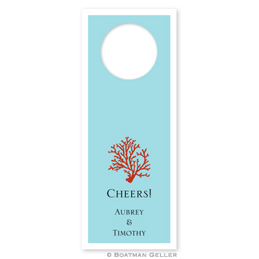 Coral Wine Tags - qty 8