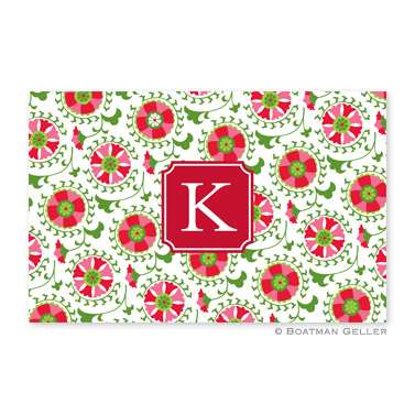 Suzani Holiday Disposable Holiday Placemat