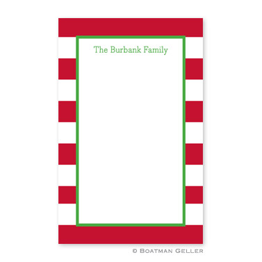 Awning Stripe Red Notepad