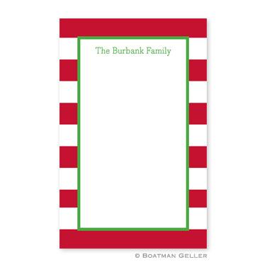 Awning Stripe Red Notepad